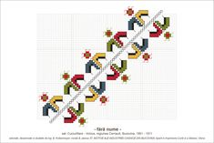 Semne Cusute: MOTIVE: (P37, M8) - rauri costisate Folk Embroidery, Cross Stitch Borders, Hama Beads, Beading Patterns, Pixel Art, Folk Art, Diy And Crafts, Kids Rugs, Traditional