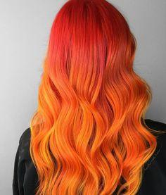 Can you handle the heat? • Shades of blaze by @taylorrae_hair #pravana