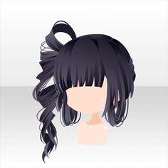 Pin by leia chang on marker Dark Brown Long Hair, Character Inspiration, Hair Inspiration, Moe Manga, Pelo Anime, Manga Hair, Hair Sketch, Kawaii Chibi, Fantasy Hair