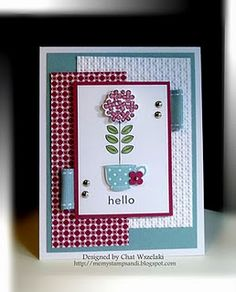 Love the color combo on this super simple but lovely card.