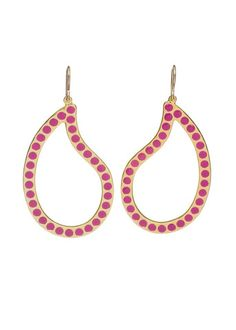 Diversey Simple Dotted Paisley Earrings