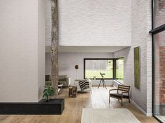 White illuminates us as soon as dawn rises, and the human eye has always been sensitive to its multiple shades, distinguishing shiny whites from matt ones, soothing from energizing whites. Sisal, Natural Materials, Oversized Mirror, Wall Decor, Shades, Human Eye, Room, House, Dawn