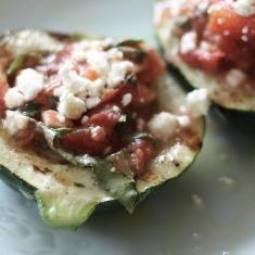 Tomato, Basil And Feta Stuffed Zucchini (via www.foodily.com/r/WI8wqgxFf-tomato-basil-and-feta-stuffed-zucchini-by-tokyo-terrace)
