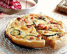 Torta salata di zucchine e prosciutto