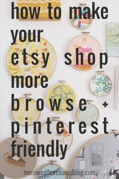 How to Make your Etsy Shop more Pin + Browse Friendly