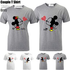 Mr Mickey and Mrs Minnie Love Kiss Graphic Couple Short Sleeves T-shirt Tee Tops in Clothing, Shoes & Accessories,Unisex…