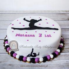 102BA. Tort dla gimnastyczki. Gymnastics Birthday Cake. Dance Birthday Cake, Gymnastics Birthday Cakes, 14th Birthday Cakes, Brithday Cake, Gymnastics Party, 14th Birthday Party Ideas, Dance Cakes, Occasion Cakes, Girl Cakes