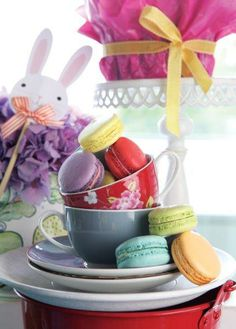 Colourful Macaroons for Easter - Belle's Patisserie Easter 2014, Macaroons, Baking, Cake, Color, Pasta Noodles, Colour, Macaroni, Pie
