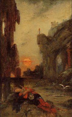 Gustave Moreau. La muerte de Safo, 1872-1875. Museo gustave Moreau, Paris.