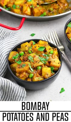 Indian Vegetarian Recipes 98868154309052303 - These Bombay Potatoes and Peas are savory, warm-spiced, and total comfort on a plate! Everything is cooked in one pan and requires little effort to make. Source by Vegan Side Dishes, Side Dish Recipes, Food Dishes, Dinner Recipes, Delicious Vegan Recipes, Vegetarian Recipes, Healthy Recipes, Vegetarian Cookbook, Indian Food Recipes