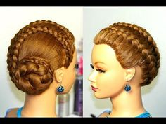 Knotted updo, hairstyle for medium long hair. - YouTube