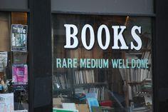 Books: Rare, medium, well done