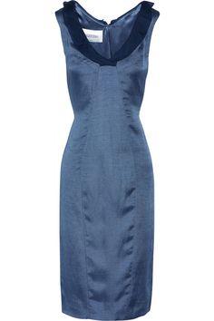 Valentino Silk, linen and cotton-blend dress