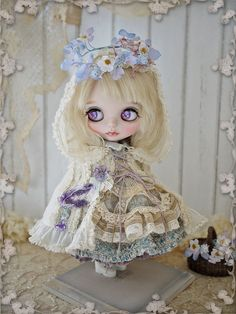 Blueberry - custom blythe by Milk Tea