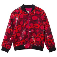 Leopard Print and Sequin Jersey Jacket