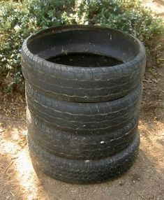 compost bin made of old tires