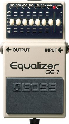Boss GE-7 Equalizer pedal: EQ pedals are one of the most valuable things to put in a rig, and to be honest I think I need AT LEAST 2 of them.