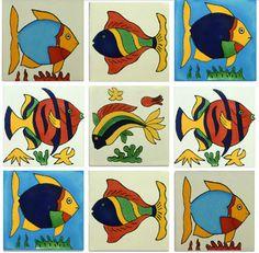 Fish Mexican Talavera Tile Collection – Mexican Tile Designs