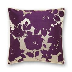Plum Silhouette Cushion   Dunelm