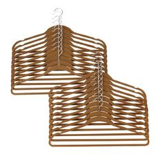 """Brylanehome Plus Size 20-Pk. Flocked Hanger Set by BrylaneHome. Save 33 Off!. $19.99. Sturdy, velvet-flocked 21"""" hangers of carbon steel/ABS plastic neatly store extra-large garments and hold up to 40-lbs."""