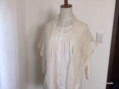 【編み図】横向きに編む方眼編みの三角ストール
