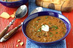 Lentil and Black Bean Soup w Smoked Paprika (meatless) via @Cookin' Canuck Dara Michalski