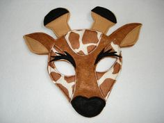Children's GIRAFFE Felt Animal Mask. $12.50, via Etsy.
