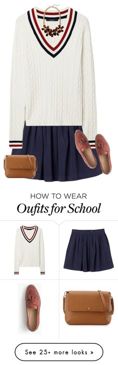 """Prep School"" by sc-prep-girl on Polyvore featuring Monki, GANT, J.Crew and Tory Burch"