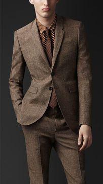 Burberry Slim Fit Tweed Jacket on shopstyle.com