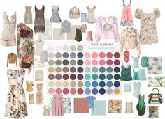 """Soft Autumn Color Palette 2"" by blueskies22 ❤ liked on Polyvore"
