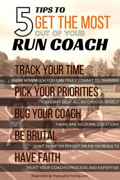 Surprising tips from a Run Coach to make sure your training is fun and valuable.