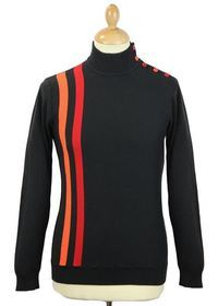 Racing Coleridge MADCAP Mens Retro Mod Turtle Neck Jumper now back in stock in all sizes at Atom Retro: The original red and orange racing stripe design with alternating button detail to shoulder: http://www.atomretro.com/product_info.cfm?product_id=4297 #madcapengland #racingcoleridge #racingjumper #turtleneck #mockturtleneck #mod #atomretro