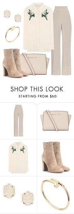 """""""Nude Day"""" by sarahavamarie ❤ liked on Polyvore featuring MaxMara, MICHAEL Michael Kors, STELLA McCARTNEY, Gianvito Rossi, Kendra Scott and Cartier"""