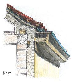 Fotografia Architecture Drawings, School Architecture, Architecture Design, House Cladding, Facade House, Civil Engineering Construction, Wood Construction, Building Plans, Green Building