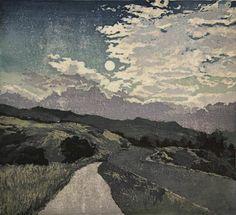 Jennifer Worsley. Midnight Drive. Woodcut, 2012.