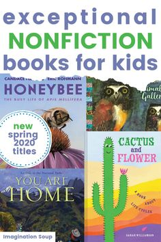 New Nonfiction Books for Kids, Spring 2020 Good New Books, Best Books To Read, This Book, Top Toys For Girls, Nonfiction Books For Kids, Kids Reading, Lessons For Kids, Book Of Life, Book Recommendations