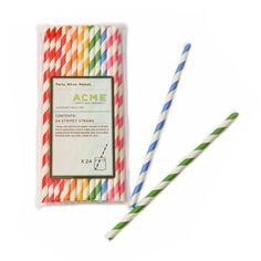 Fab.com | Stripey Straws Multi