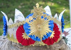 Fit For a King Birthday Crown by OvertheTopStudios on Etsy, $45.00