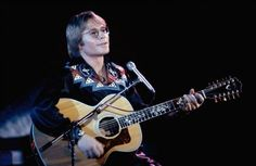 "John Denver performing at the United Nations General Assembly, on Jan. 9, 1979 in New York, during taping of the NBC-TV Special, ""The Music for UNICEF concert."""