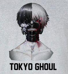 Tokyo Ghoul Kaneki Split Face Mask T-Shirt Tee