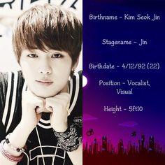 Bangtan Boys (bts) - Jin