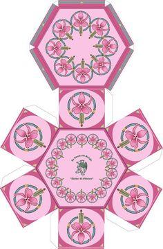 Fushia paper box