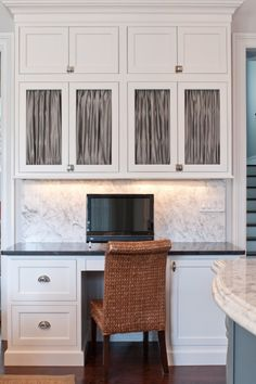Suzie: Town U0026 Country Kitchen And Bath   COffice Space In Kitchen With  Crisp White