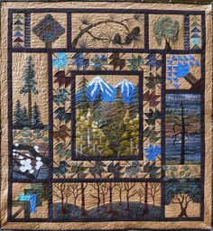 I love Nature and nature-themes, and have never seen such beautiful quilts as these!