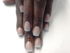 Natural tips with an acrylic overlay