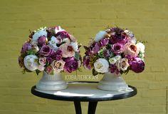 Купить Интерьерная композиция. - фиолетовый, белые пионы, фиолетовые цветы, пионы, роскошная, красота на стол
