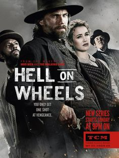 Hell on Wheels. Cullen Bohannon, I will never forget this characters name.  I will have to check out his other shows after this performance.