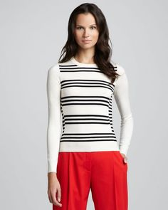 Theory Tommie Stripe Sweater
