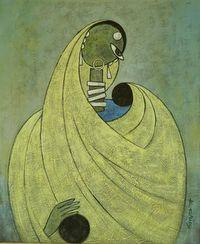 K.Koria Portfolio - paintings of Ganesh, female figurative & prints