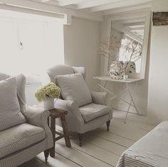 Summer stripes#lounge #chairs #slipcover #tickingstripe #cottage #fresh #light